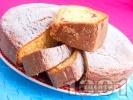 Рецепта Пухкав кекс със сладко от вишни